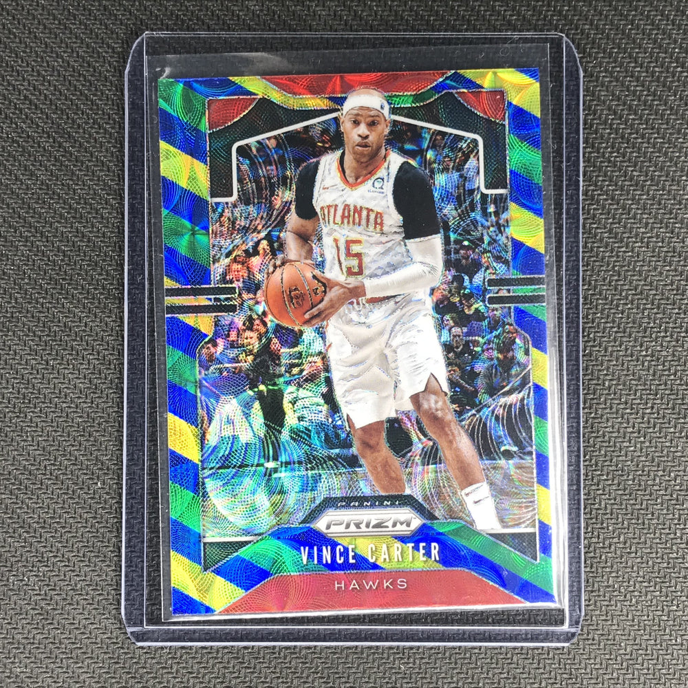 2019-20 Prizm VINCE CARTER Blue Yellow Green Prizm #33-Cherry Collectables