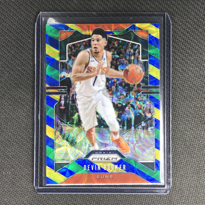 2019-20 Prizm DEVIN BOOKER Blue Yellow Green Prizm #67-Cherry Collectables