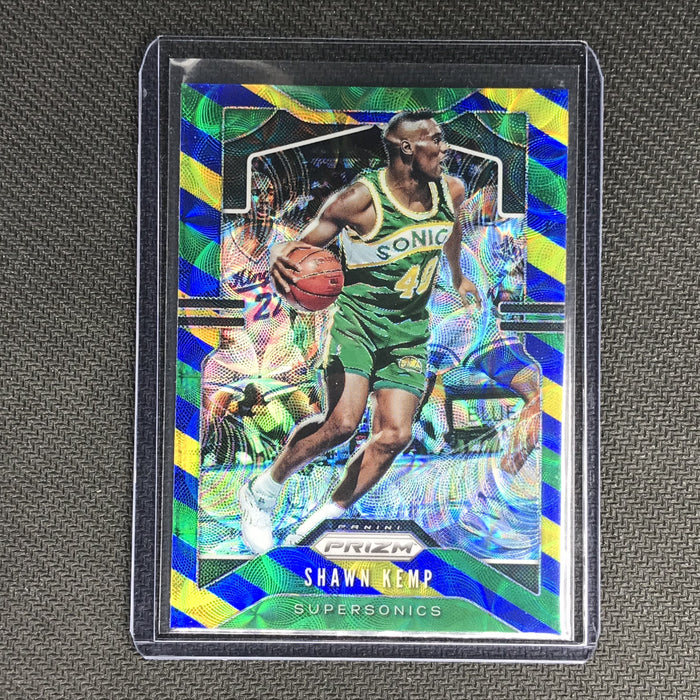 2019-20 Prizm SHAWN KEMP Blue Yellow Green Prizm #14-Cherry Collectables