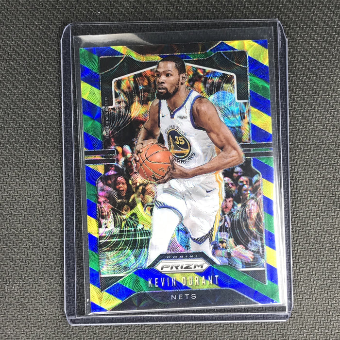 2019-20 Prizm KEVIN DURANT Blue Yellow Green Prizm #210-Cherry Collectables