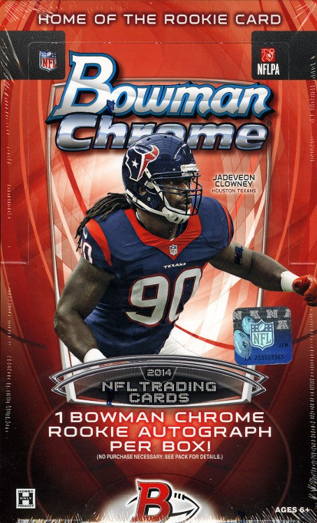 2014 Bowman Chrome Football Hobby Box-Cherry Collectables