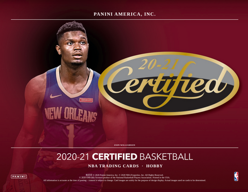 20-21 Panini Certified Basketball 3-Box Break #1703 - Random Team - Feb 10 (Night)-Cherry Collectables