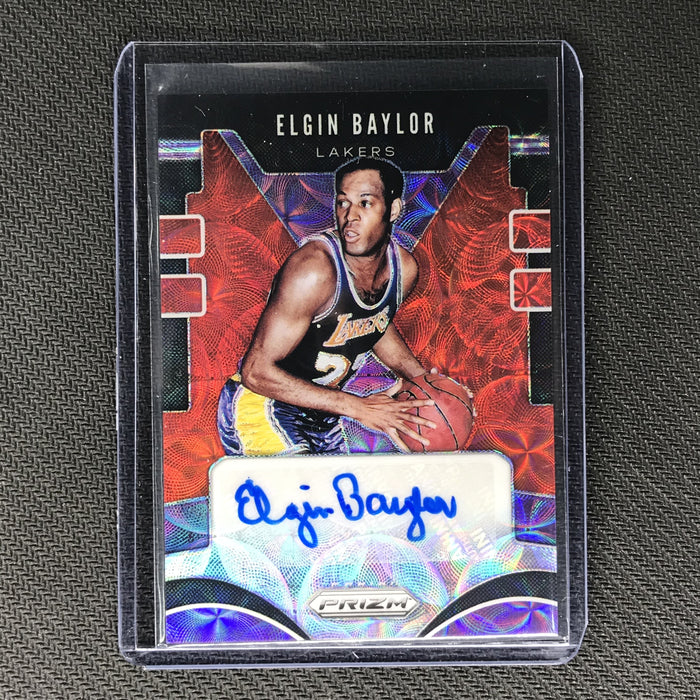 2019-20 Prizm Choice ELGIN BAYLOR Rookie Signatures Auto Red #EBY-Cherry Collectables
