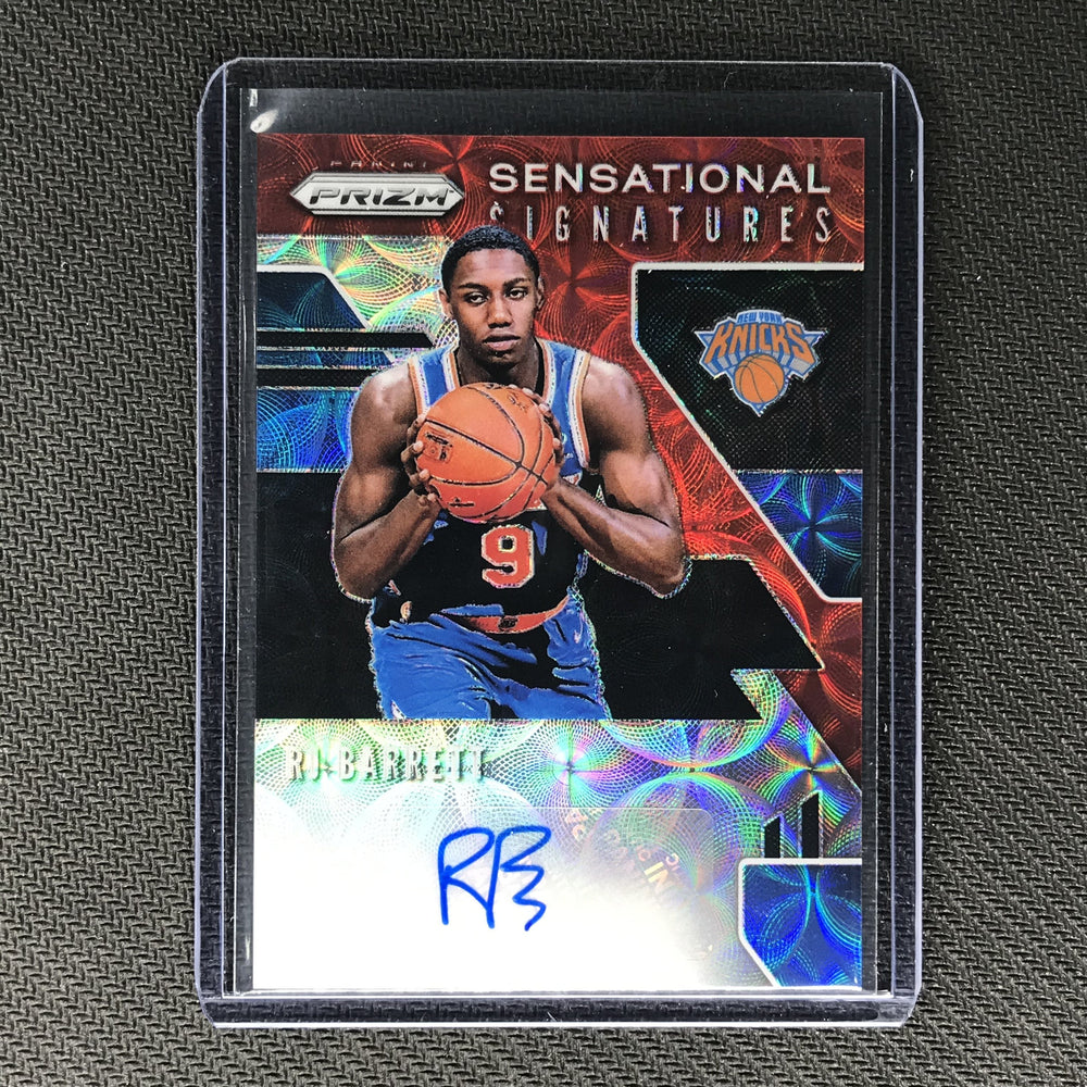 2019-20 Prizm Choice RJ BARRETT Sensational Signatures Rookie Auto Red #RJB-Cherry Collectables