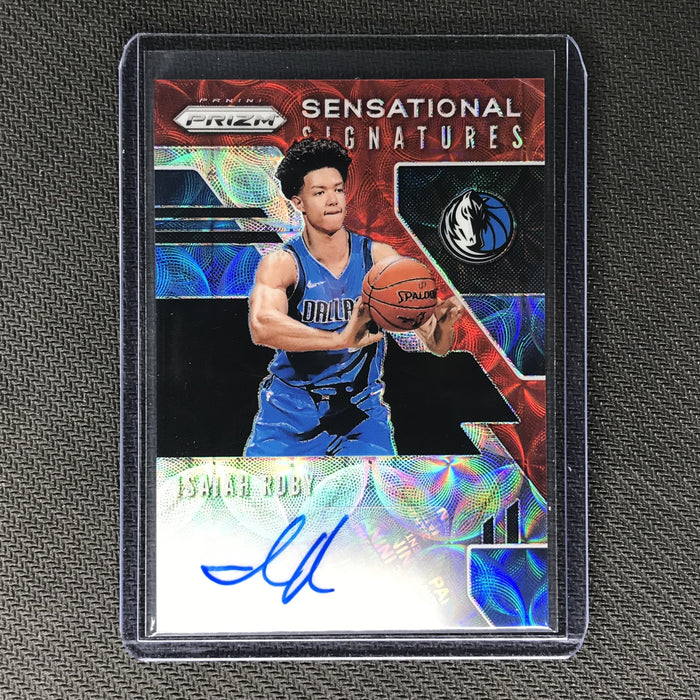 2019-20 Prizm Choice ISAIAH ROBY Sensational Signatures Rookie Auto Red #IRB-Cherry Collectables