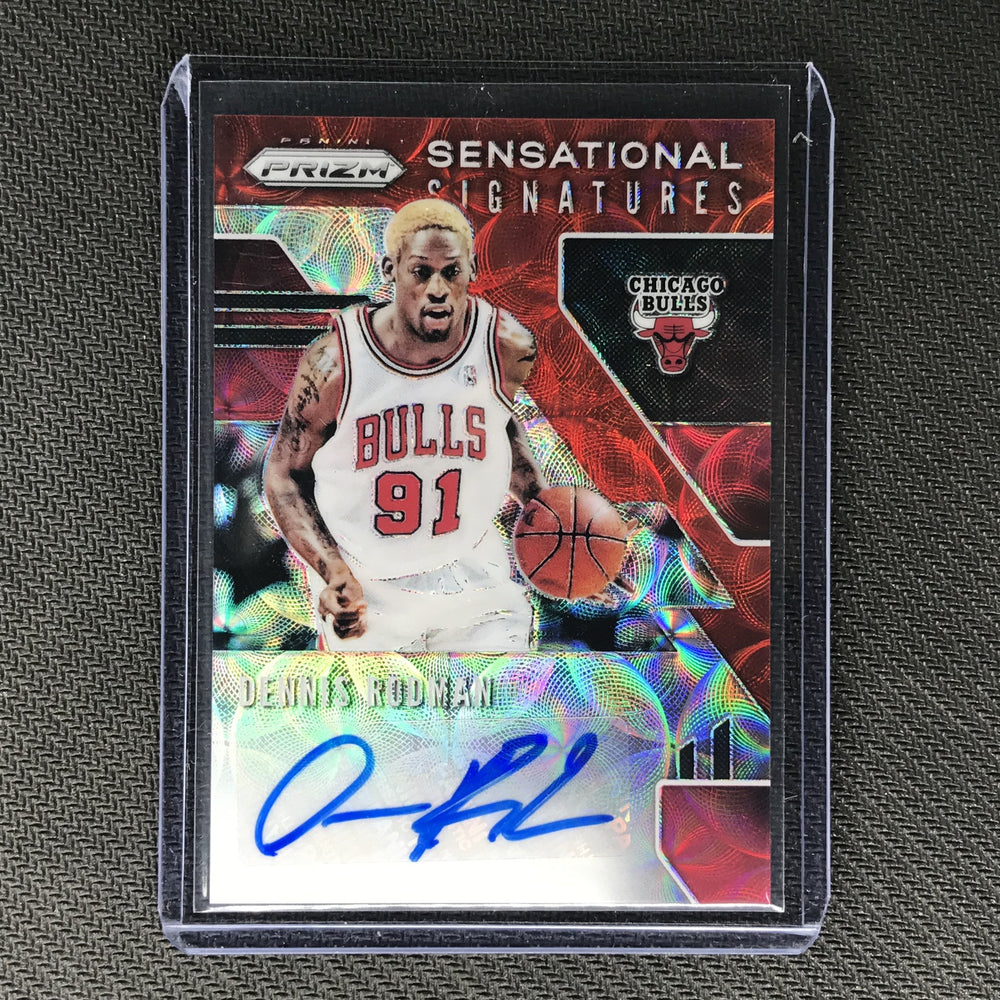 2019-20 Prizm Choice DENNIS RODMAN Sensational Signatures Auto Red #DRM-Cherry Collectables
