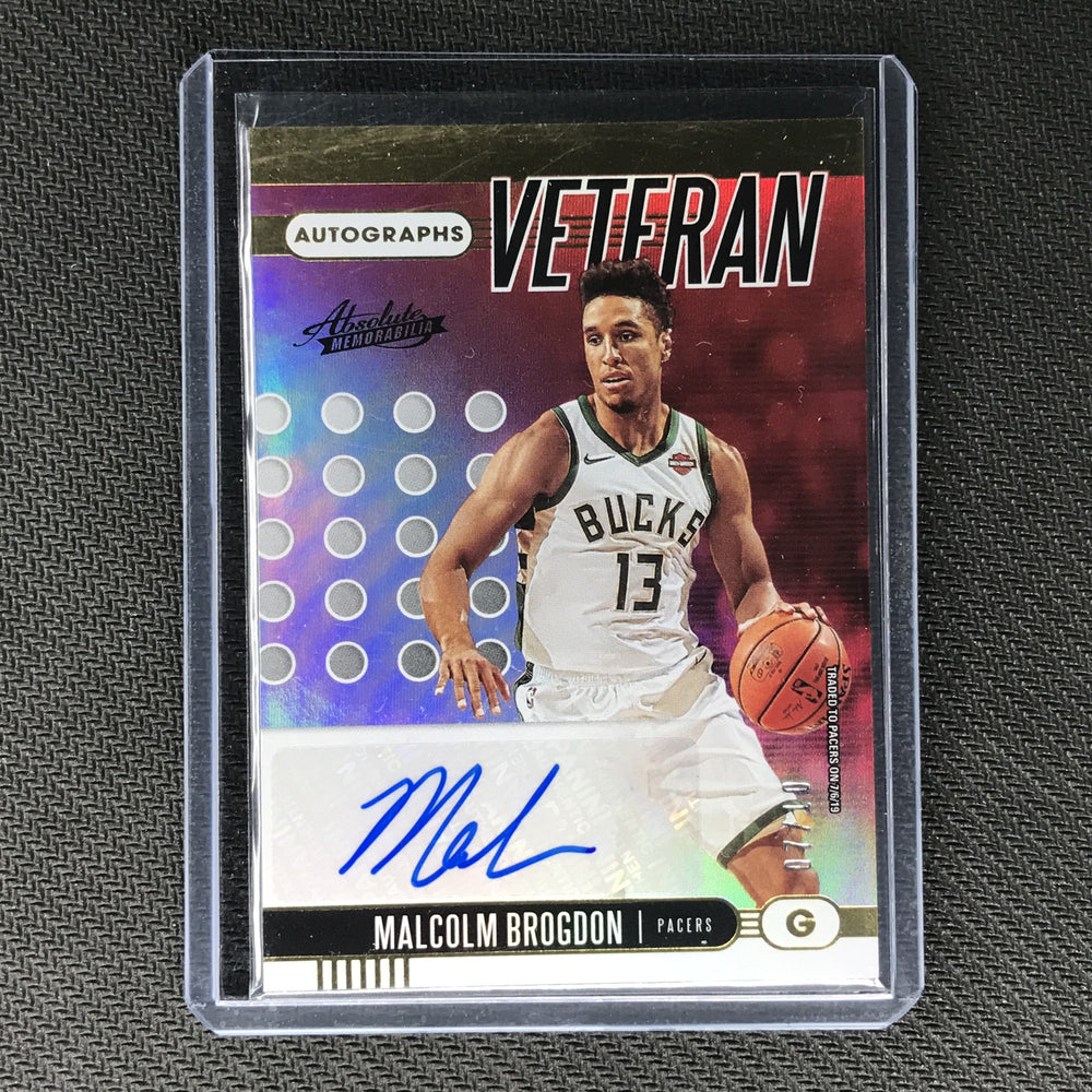 2019-20 Absolute MALCOLM BROGDON Veteran Signatures Auto Gold 7/10-Cherry Collectables