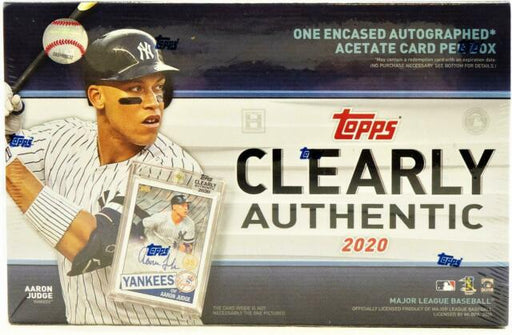 2020 Topps Clearly Authentic Baseball Hobby Box-Cherry Collectables