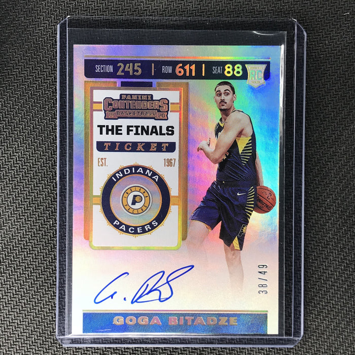 2019-20 Contenders GOGA BITADZE Finals Ticket Rookie Auto 38/49-Cherry Collectables