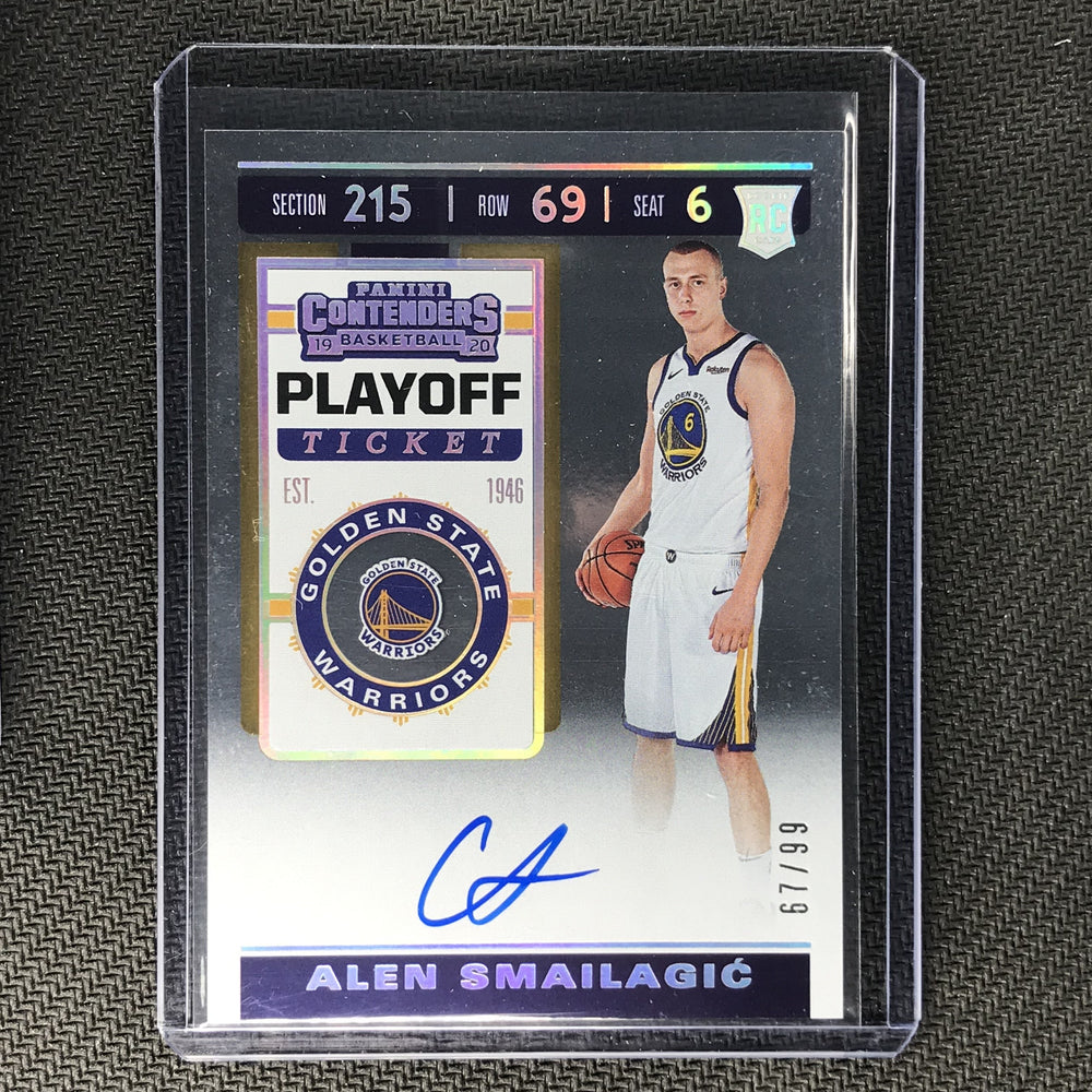 2019-20 Contenders ALEN SMAILAGIC Playoff Ticket Rookie Auto 67/99-Cherry Collectables