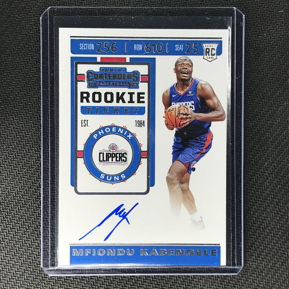 2019-20 Contenders MFIONDU KABENGELE Ticket Rookie Auto #131-Cherry Collectables