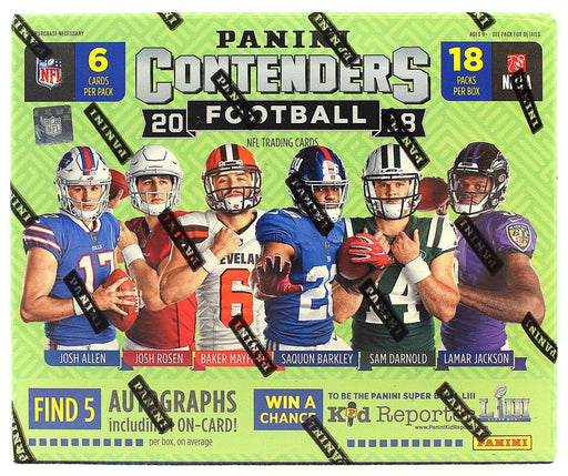 2018 Panini Contenders Football Hobby Box-Cherry Collectables