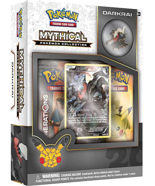 Mythical Pokemon Collection - Darkrai Pin Box-Cherry Collectables