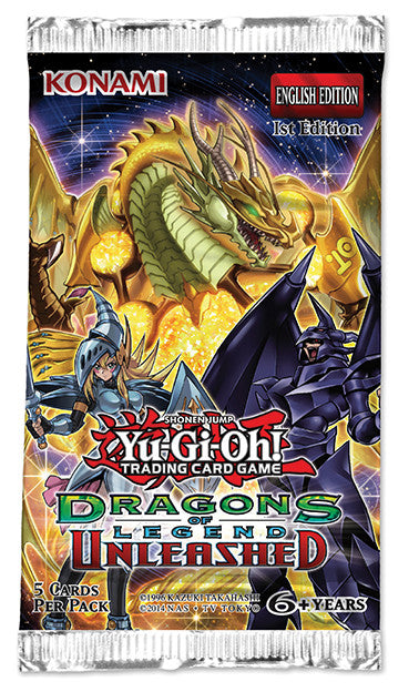 Yu-GI-Oh! Dragons of Legend Unleashed Booster Pack-Cherry Collectables