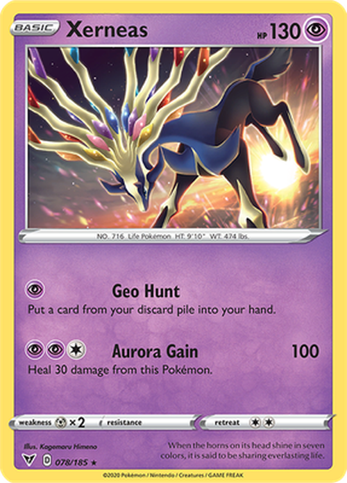 Xerneas - 078/185 - Holo Rare - Vivid Voltage-Cherry Collectables