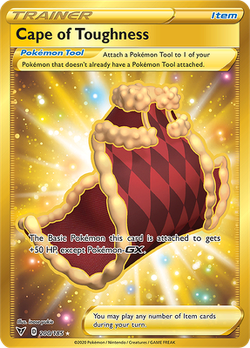 Cape of Toughness - 200/185 - SECRET RARE - Vivid Voltage-Cherry Collectables