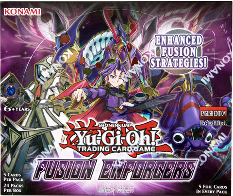YU-GI-OH! TCG Fusion Enforcers Booster Box-Cherry Collectables