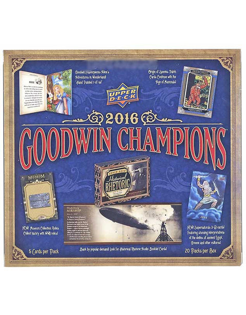2016 Upper Deck Goodwin Champions Hobby Box-Cherry Collectables