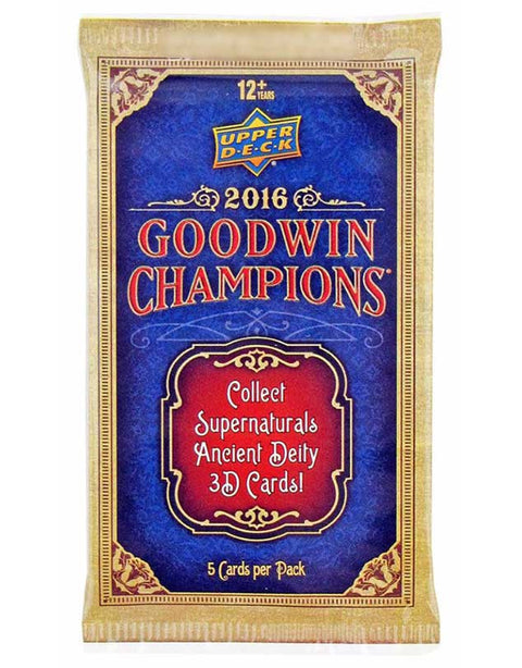 2016 Upper Deck Goodwin Champions Hobby Pack-Cherry Collectables