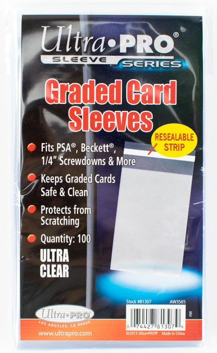 Ultra Pro Graded Card Sleeves - Resealable - 100 Per Pack-Cherry Collectables
