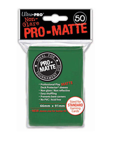 Ultra PRO - Green Standard - Pro-Matte Deck Protector® Sleeves 50ct-Cherry Collectables