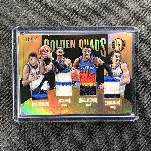 2016-17 Gold Standard ROBERSON KANTER WESTBROOK ADAMS Quads Patch 15/15-Cherry Collectables