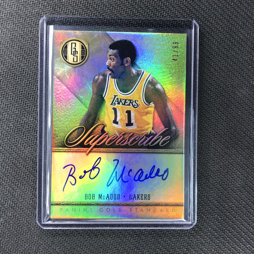 2012-13 Gold Standard BOB MCADOO Superscribe Auto 41/99-Cherry Collectables