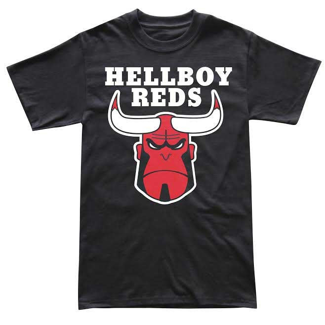 Hellboy Reds Short Sleeve Black T-Shirt-Cherry Collectables