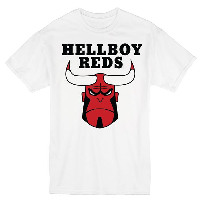 Hellboy Reds Short Sleeve White Shirt-Cherry Collectables