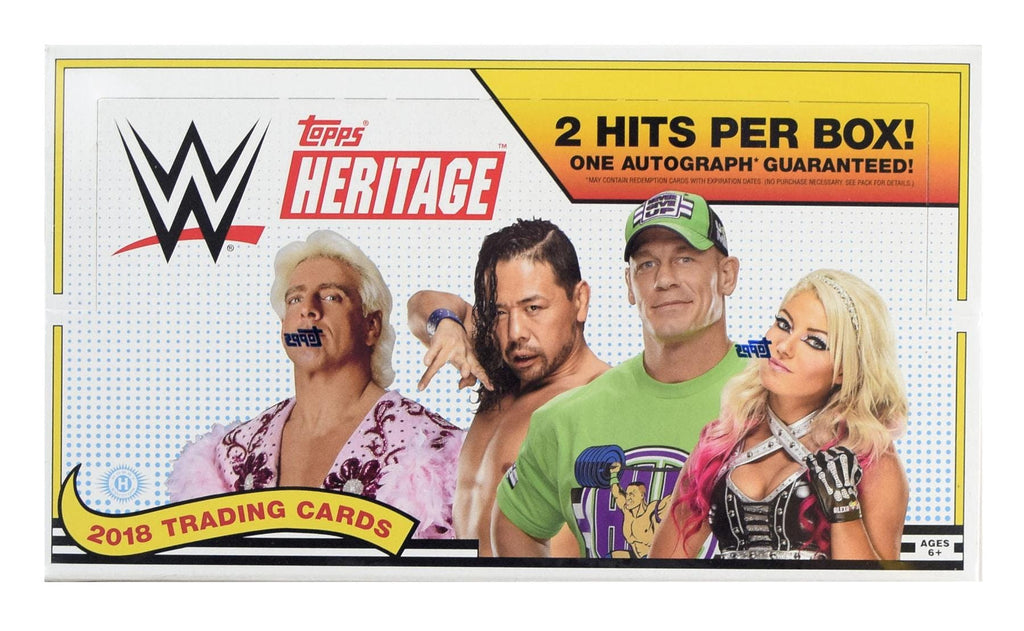 2018 Topps WWE Heritage Wrestling Hobby Box-Cherry Collectables