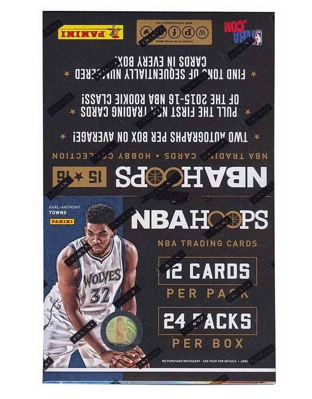 2015/16 NBA Hoops Basketball Hobby Box-Cherry Collectables