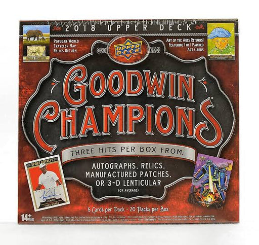 2018 Upper Deck Goodwin Champions Hobby Box-Cherry Collectables