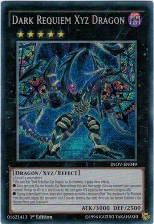 Dark Requiem Xyz Dragon - INOV-EN049 - Secret Rare 1st Edition-Cherry Collectables