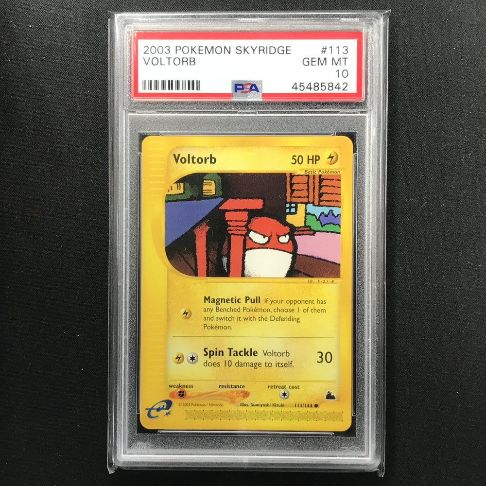 PSA 10 GEM MINT Voltorb - 113/144 - Skyridge-Cherry Collectables