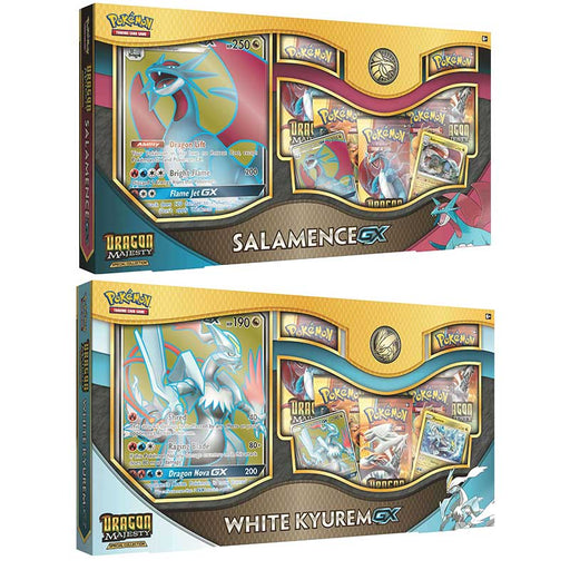 Pokemon TCG: Dragon Majesty Special Collection - White Kyurem & Salamence GX Combo (Pre Order Nov)