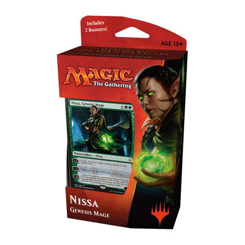 Magic the Gathering Hour Of Devastation Planeswalker Deck - Nissa-Cherry Collectables