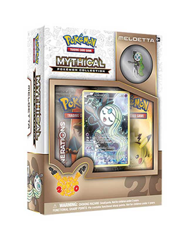 Mythical Pokemon Collection - Meloetta Pin Box-Cherry Collectables