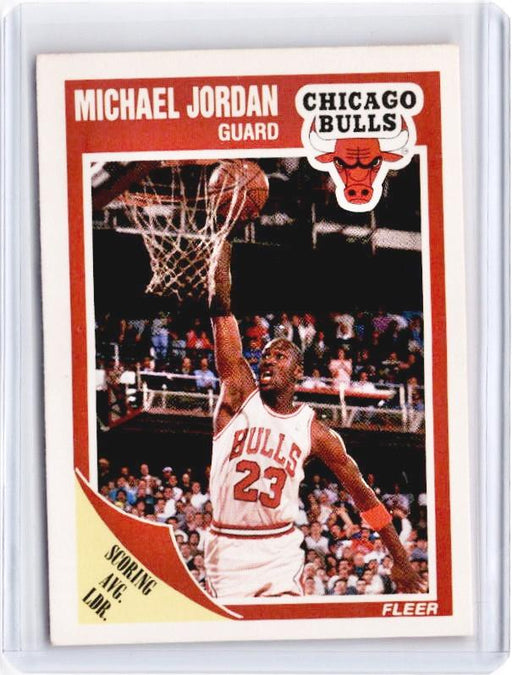 1989 Fleer MICHAEL JORDAN Scoring Avg Leader #21-Cherry Collectables