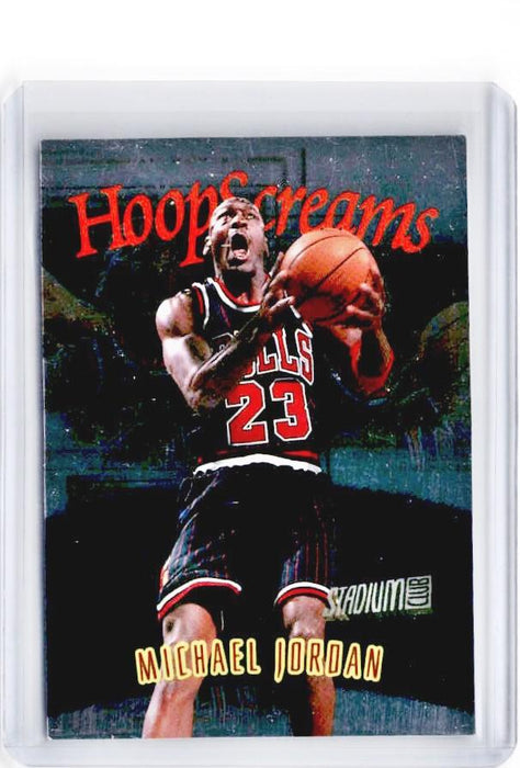 1997-98 Topps Stadium Club MICHAEL JORDAN Hoop Screams #HS10 - A-Cherry Collectables