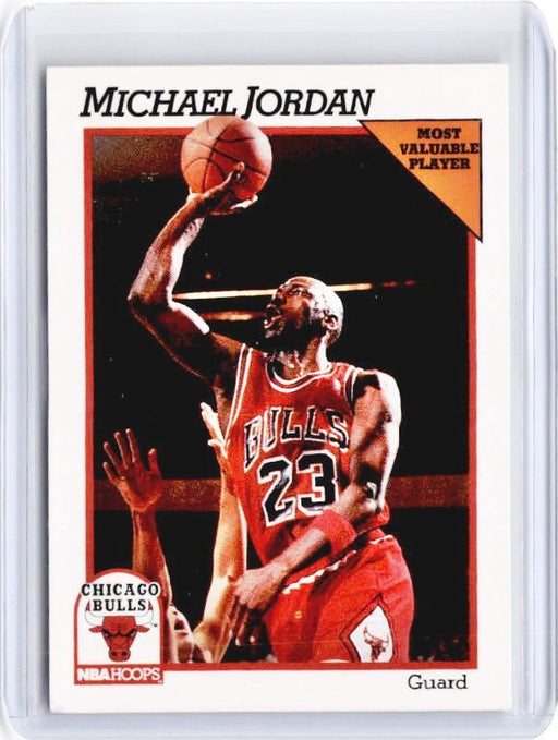 1991-92 NBA Hoops MICHAEL JORDAN Most Valuable Player #30-Cherry Collectables