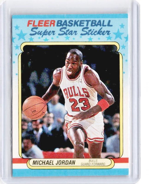 1988 Fleer MICHAEL JORDAN Super Star Sticker #7-Cherry Collectables