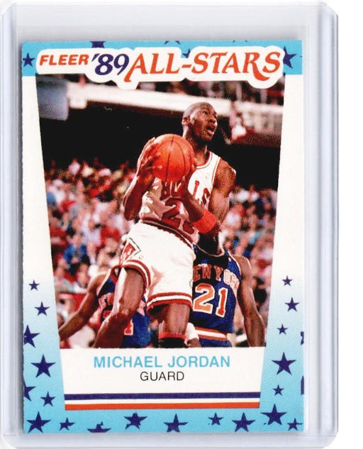 1989 Fleer MICHAEL JORDAN Fleer 89 All Stars Sticker #3-Cherry Collectables