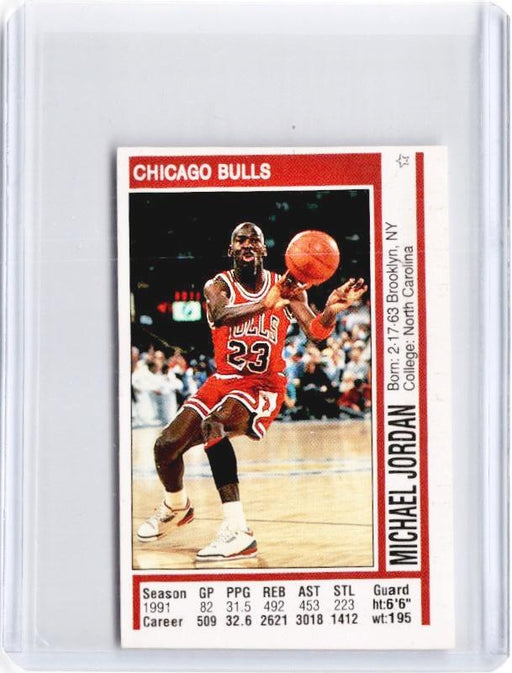 1991-92 Panini MICHAEL JORDAN Mini Sticker #116-Cherry Collectables