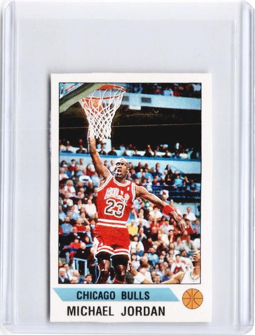 1990-91 Panini MICHAEL JORDAN Mini Sticker #91-Cherry Collectables