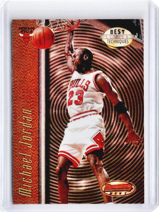 1997-98 Bowmans Best MICHAEL JORDAN Best Techniques Refractor #T2 - A-Cherry Collectables