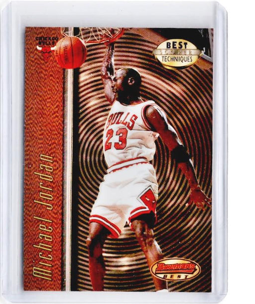 1997-98 Bowmans Best MICHAEL JORDAN Best Techniques Refractor #T2 - B-Cherry Collectables