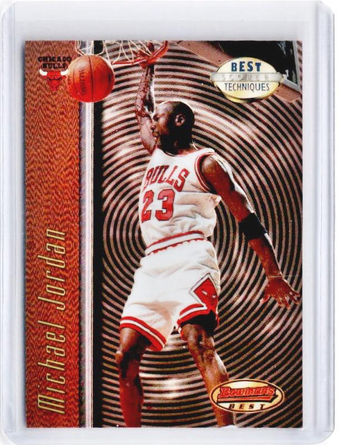 1997-98 Bowmans Best MICHAEL JORDAN Best Techniques Refractor #T2 - C-Cherry Collectables
