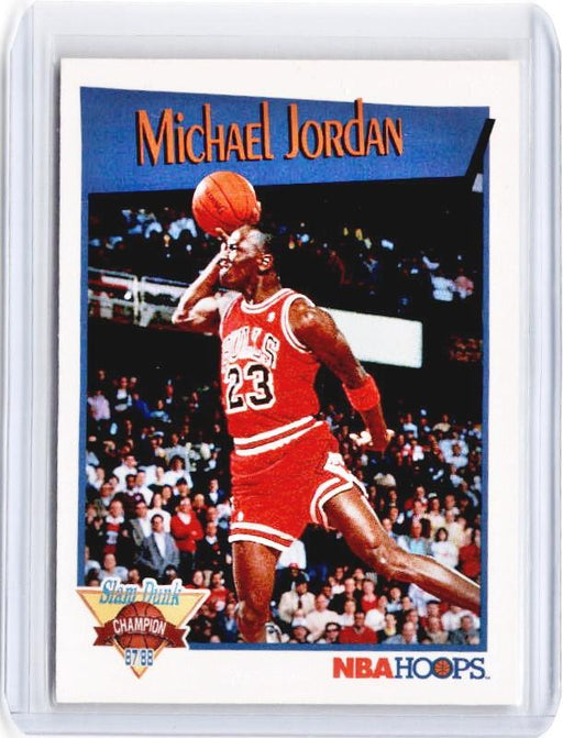 1991 NBA Hoops MICHAEL JORDAN Slam Dunk Champion Slammin' #IV-Cherry Collectables
