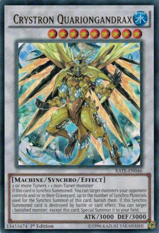 Crystron Quariongandrax - RATE-EN046 - Ultra Rare 1st Edition-Cherry Collectables