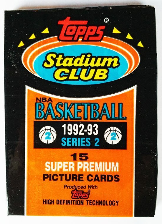 1992/93 Topps Stadium Club Basketball Series 2 Hobby Pack - Cherry Collectables
